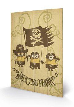 Obraz na drewnie Minionki (Despicable Me) - Walk The Plank