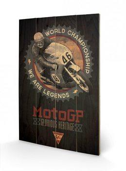 Obraz na drewnie MOTO GP - legends
