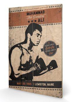 Obraz na drewnie MUHAMMAD ALI - fighter vintage