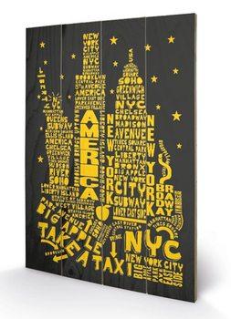 Obraz na drewnie Nowy Jork - Citography