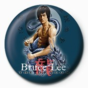 Odznaka BRUCE LEE - BLUE DRAGON