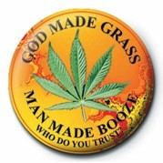 Odznaka GOD MADE GRASS
