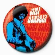 Odznaka Jimi Hendrix plakietka (niebieska)