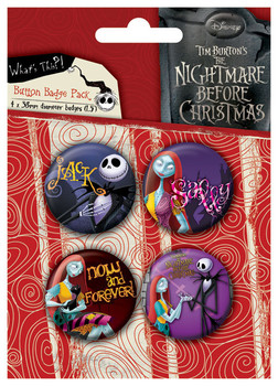 Odznaka NIGHTMARE - Jack and Sally