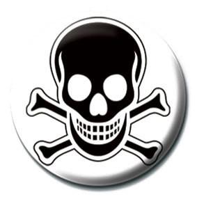 Odznaka SKULL and CROSSBONES - Black