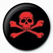Odznaka SKULL & CROSSBONES (RED)