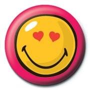 Odznaka SMILEY - heart eyes