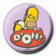 Odznaka THE SIMPSONS - homer d'oh art