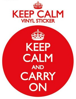 KEEP CALM AND CARRY ON pegatina
