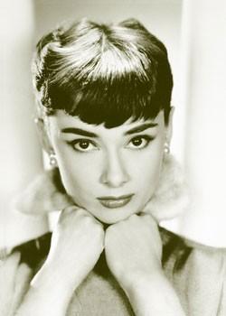 Plakat Audrey Hepburn - sepia