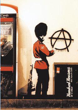 Plakat Banksy street art - Graffiti Gardist Anarchie