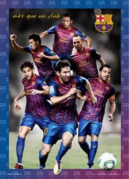 Barcelona - players 2012 Plakat 3D Oprawiony