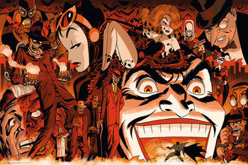 Plakat Batman Comic - Villains