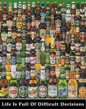 Plakat Beer - difficult decisions