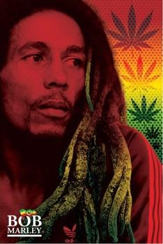 Plakat Bob Marley - dreads