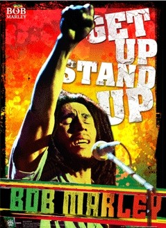 Bob Marley - get up stand up Plakat 3D Oprawiony