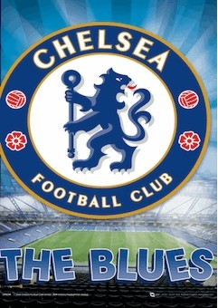 Chelsea - crest Plakat 3D Oprawiony