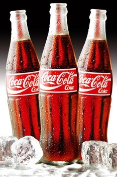 Plakat Coca Cola - 3 bottles of ice