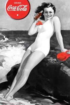 Plakat Coca Cola - girl