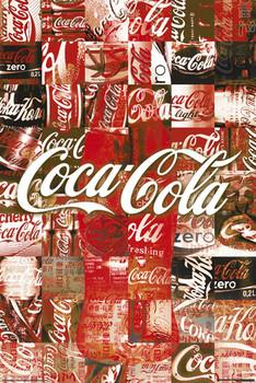 Plakat Coca Cola - patchwork