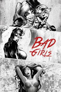 Plakat DC Comics - Badgirls (B&W)