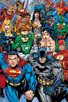 Plakat DC COMICS - collage