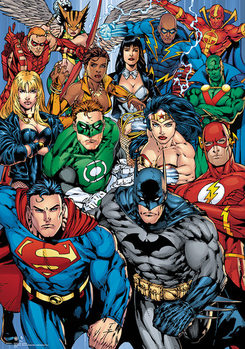 Plakat DC Comics - Collage