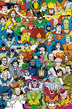 Plakat DC Comics - Retro Cast
