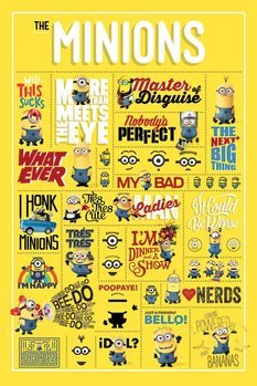 Plakat Despicable Me - Infographic