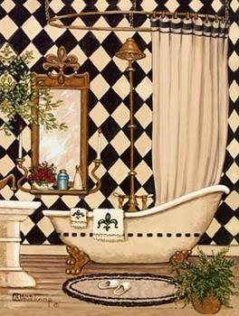 Reprodukcja Elegant Bath I