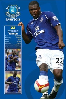 Plakat Everton - yakubu
