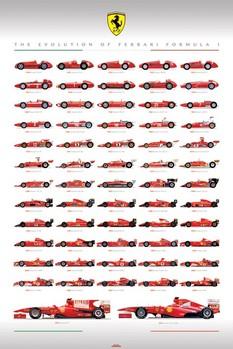 Plakat Ferrari - evolution