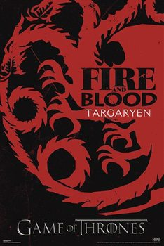 Plakat GAME OF THRONES - GRA O TRON - fire & blood