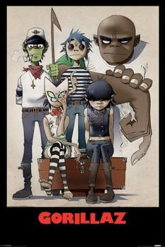 Plakat Gorillaz - all here