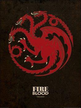 Reprodukcja Gra o tron - Game of Thrones - Targaryen