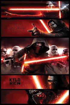 Plakat Gwiezdne wojny, część VII : Przebudzenie Mocy - Kylo Ren Panels