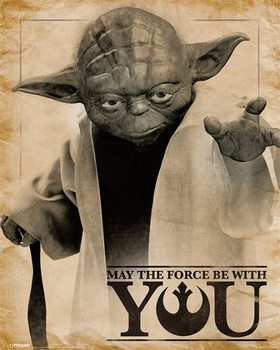 Plakat Gwiezdne wojny – Yoda May The Force Be With You