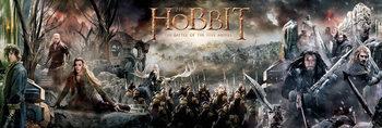 Plakat Hobbit 3: Bitwa Pięciu Armii - Collage