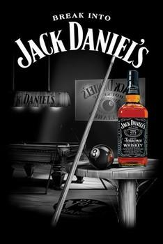 Plakat Jack Daniel's - pool room