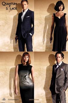 Plakat JAMES BOND 007 - quantum of solace quartet