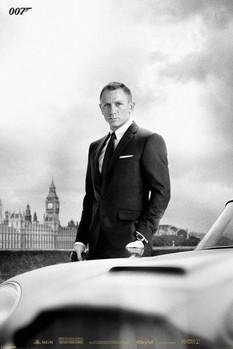 Plakat JAMES BOND 007 - skyfall / bond & DB5