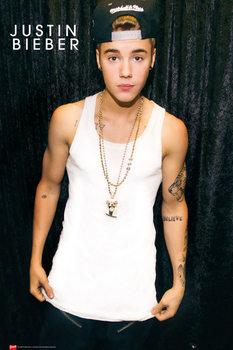 Plakat Justin Bieber - cap