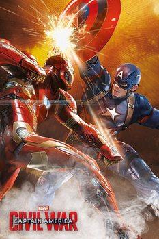 Plakat Kapitan Ameryka: Wojna bohaterów - Fight