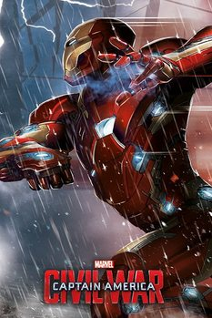 Plakat Kapitan Ameryka: Wojna bohaterów - Iron Man
