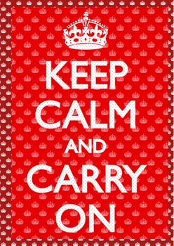 Keep calm and carry on Plakat 3D Oprawiony