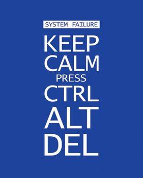 Plakat Keep calm press ctrl alt delete