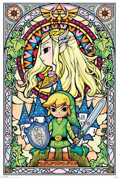 Plakat Legend Of Zelda - Stained Glass