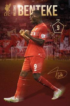 Plakat Liverpool FC - Benteke 15/16