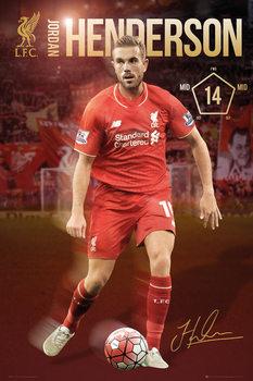 Plakat Liverpool FC - Henderson 15/16