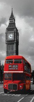 Plakat Londyn - czerwony autobus